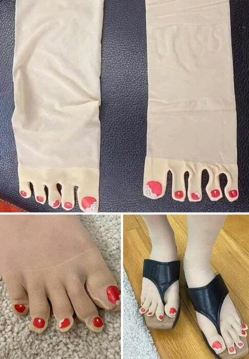 Medias en forma de dedos