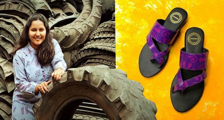 Joven logra vender más de mil pares de zapatos elaborados con neumáticos viejos