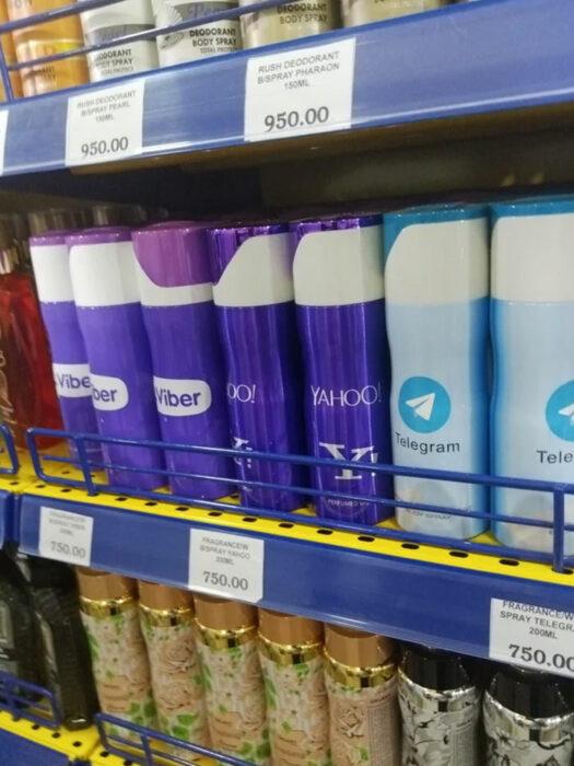 Marcas de desodorantes con nombres de redes sociales