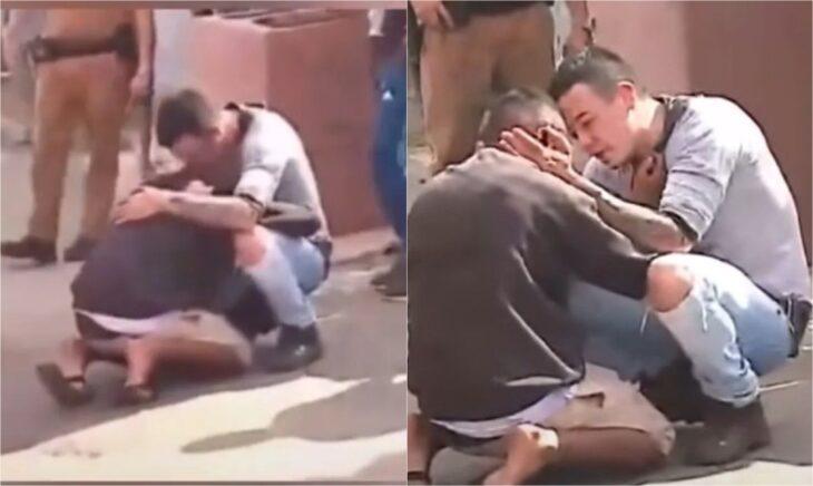 Padre consuela y abraza al hombre que atropelló a su hija en accidente