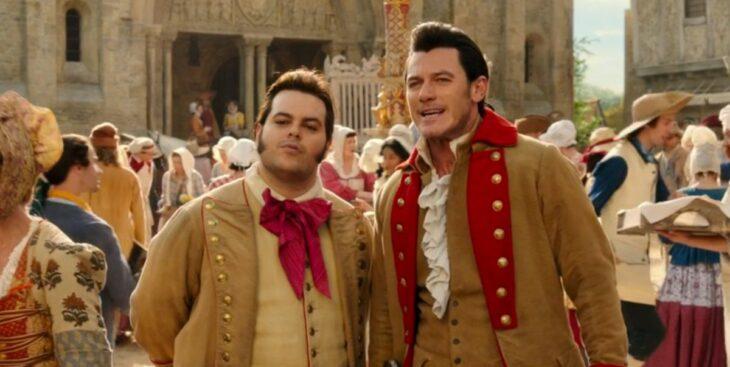 Gaston y su secuas en la película de La bella y la bestia