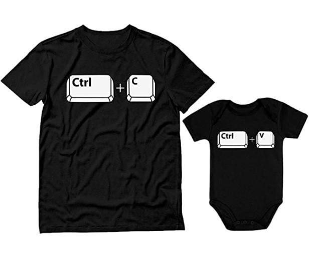 Camisa para papá e hijo