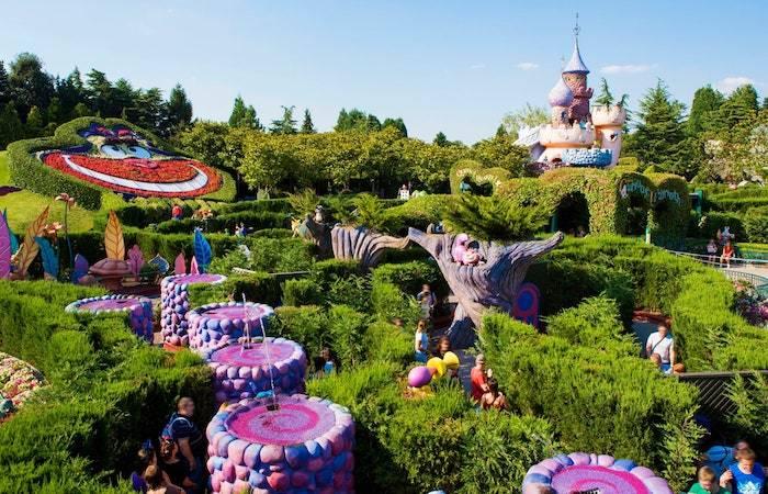 Jardines de Disney desde el aire