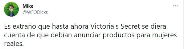 Opiniones en twitter sobre el cambio en Victorias secret
