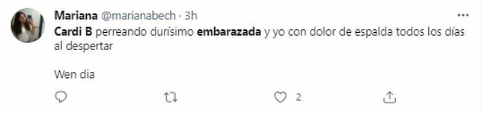reacciones en Twitter al embarazo de Cardi B