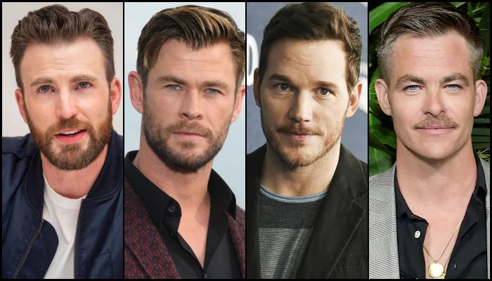 Chris Evans, Chris Hemsworth, Chris Pratt, Chris Pine