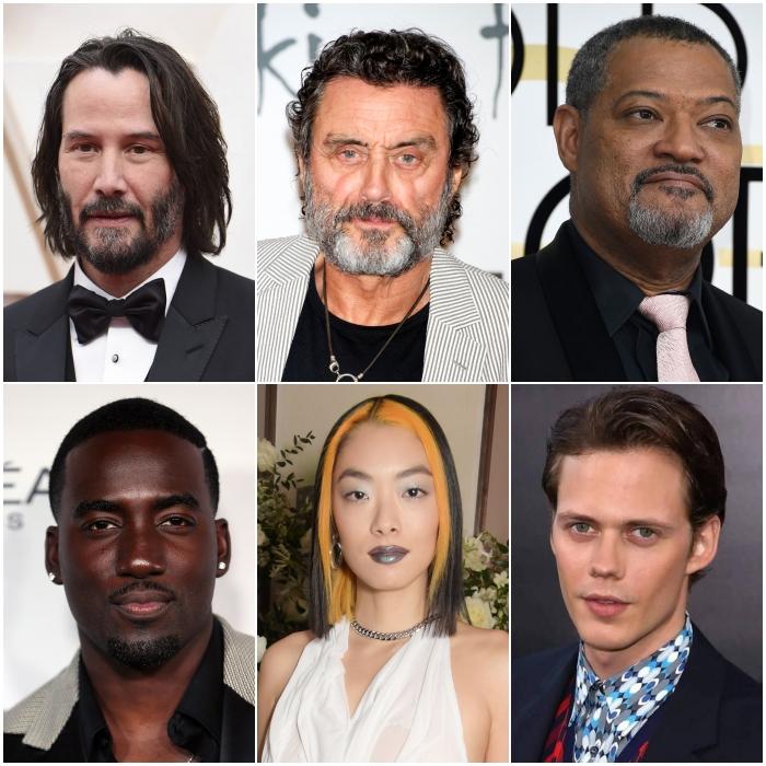 Keanu Reeves, Ian McShane y Laurence Fishbourne, Shamier Anderson, Rina Sawayama, Hiroyuki Sanada y Bill Skarsgard