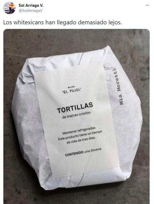 Comentarios en twitter sobre las tortillas pujol