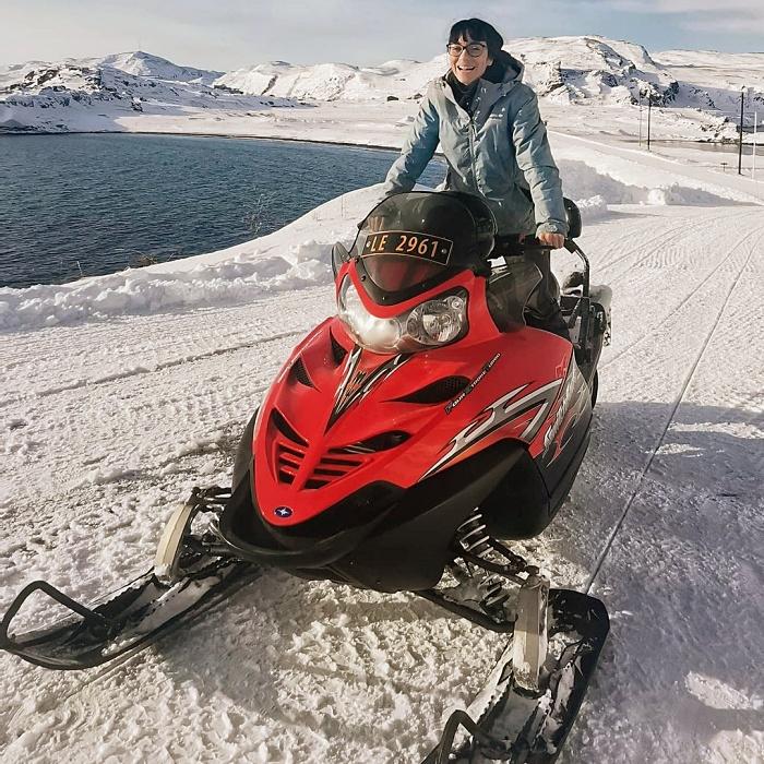 Valentina Miozzo en el círculo ártico en Noruega