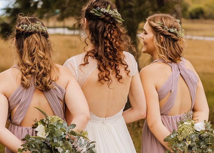 damas de honor en una boda