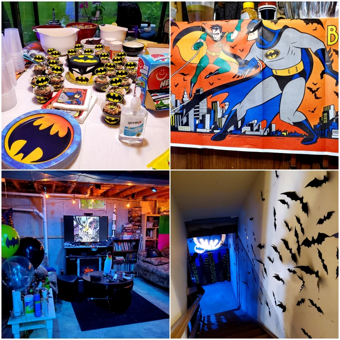 fiesta de cumpleaños temática de Batman