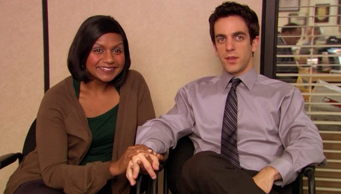 Ryan y Kelly en The Office