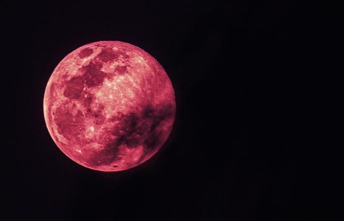 superluna Luna de fresa