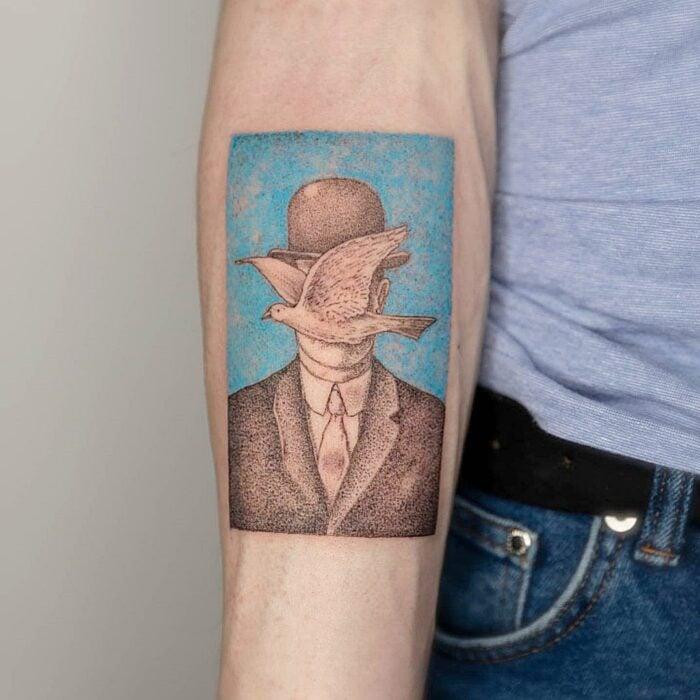 El hijo del hombre de René Magritte