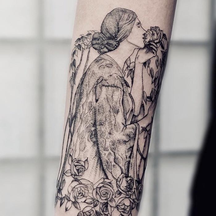 El alma de la rosa de John William Waterhouse