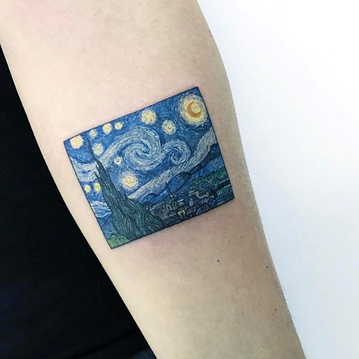 15 tattoos inspired by works of art that will make your skin a gallery 1