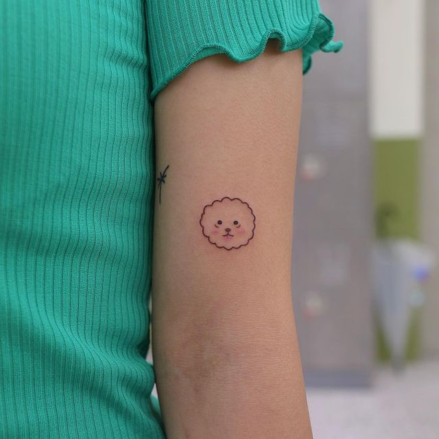 Cara de una mascota ;13 Tatuajes minimalistas a los que no te podrás resistir