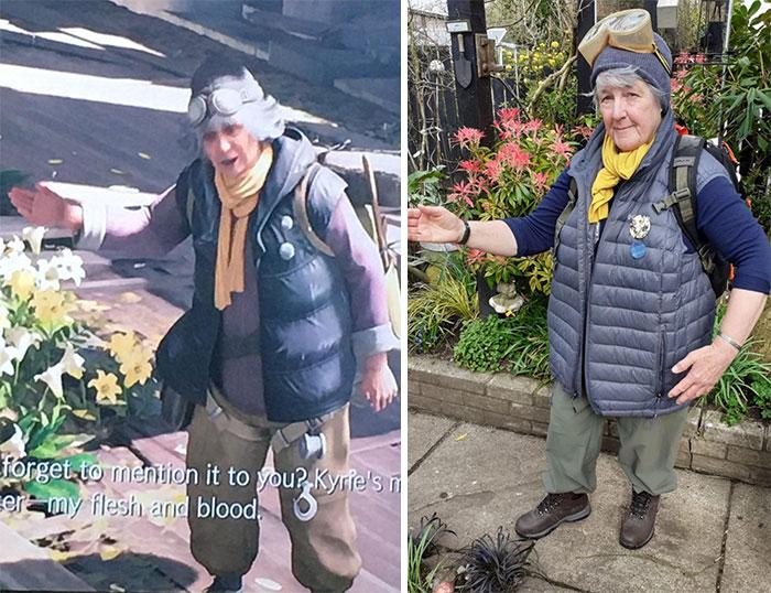 mujer llevando un disfraz ;16 Abuelitos cuya edad no les impide divertirse al máximo