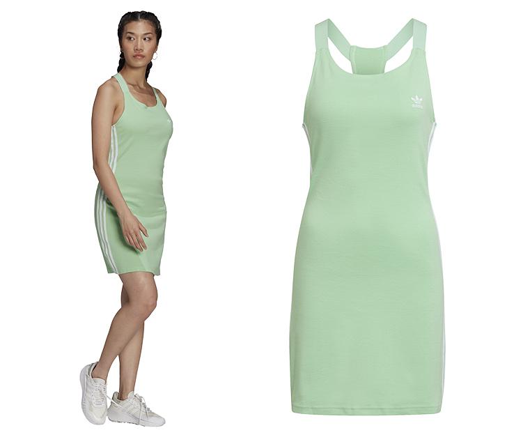 Vestido de color menta de Adidas Forum