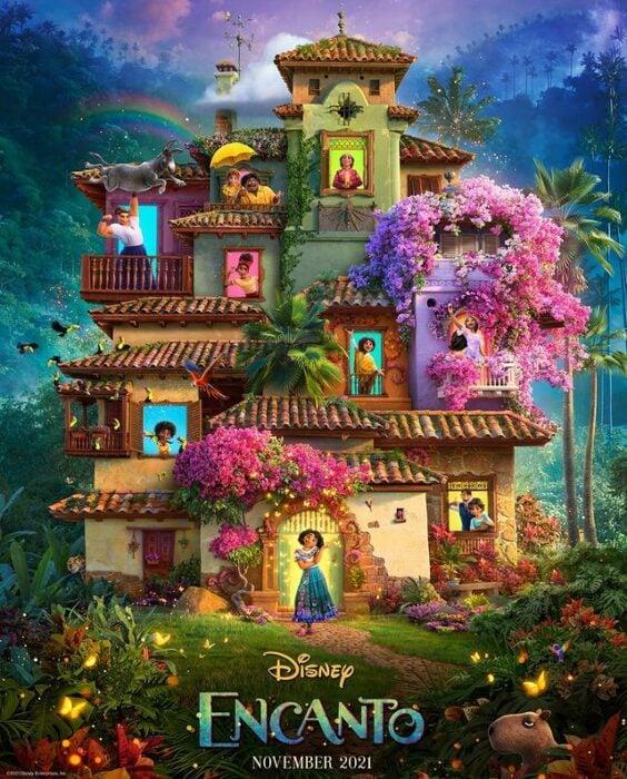 Escena promocional de la película Encanto; Disney le canta a Colombia en el primer teaser tráiler de la película 'Encanto'