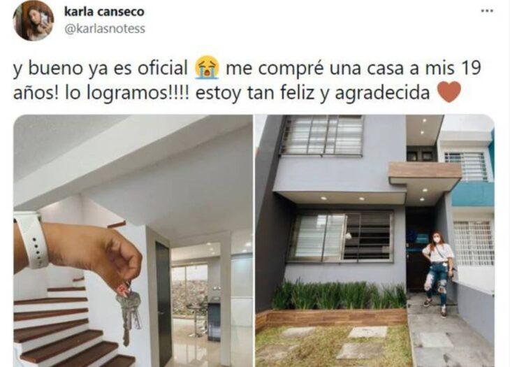 Tuit de compra de casa ;Esta youtuber se hizo viral por comprarse la casa de sus sueños