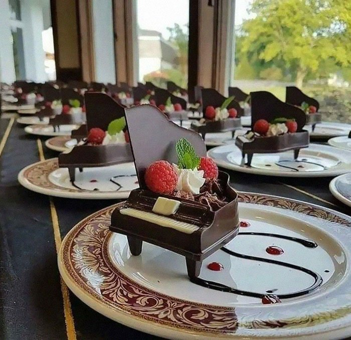 piano de chocolate; Estas fotos de comida perfecta te harán romper la dieta