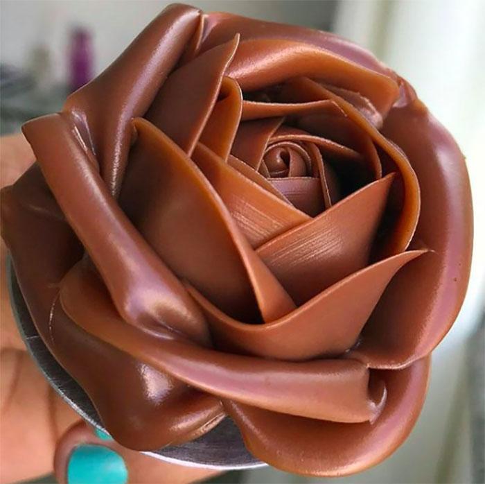 Flor de chocolate; Estas fotos de comida perfecta te harán romper la dieta