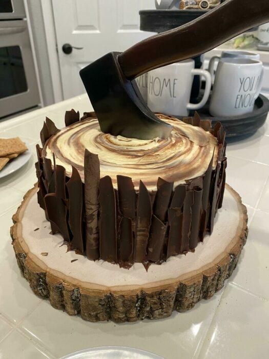 pastel de chocolate; Estas fotos de comida perfecta te harán romper la dieta