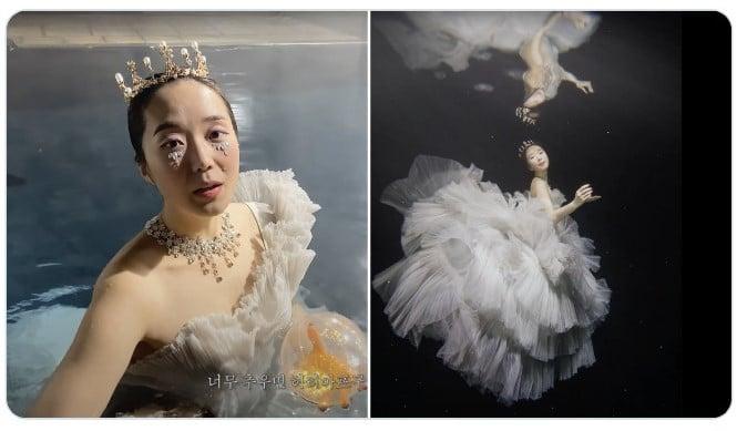 chica con vestido de olanes ;Fotógrafos comparten sus mejores trucos e internet no puede creer el resultado