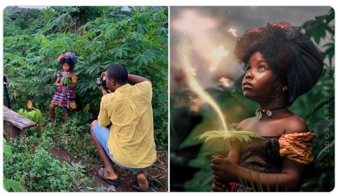 niño en un jardín ;Fotógrafos comparten sus mejores trucos e internet no puede creer el resultado