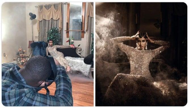 Chica recostada en un sofá ;Fotógrafos comparten sus mejores trucos e internet no puede creer el resultado