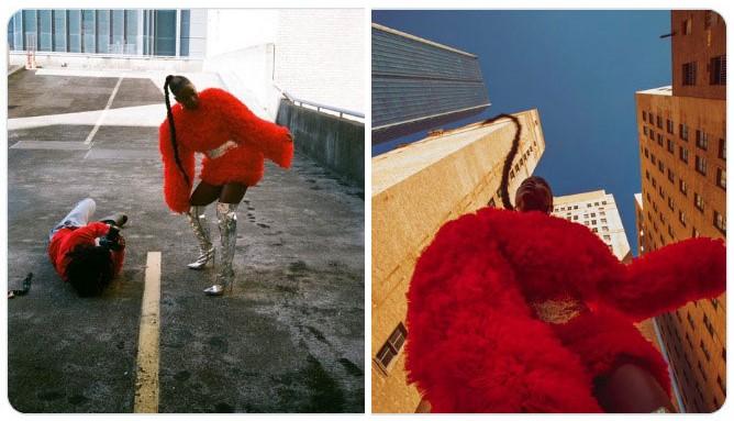 Chica bailando con vestido rojo ;Fotógrafos comparten sus mejores trucos e internet no puede creer el resultado