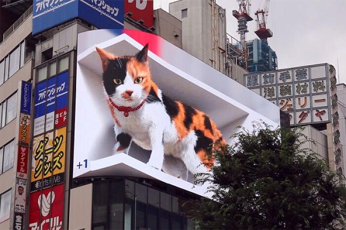 Vaya publicitaria que muestra a un gato hiperrealista en 3D