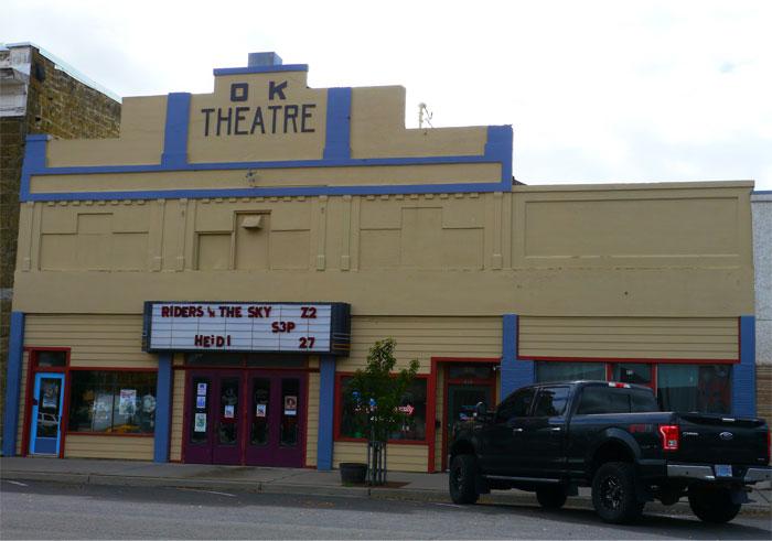 Fachada de un cine en estados Unidos