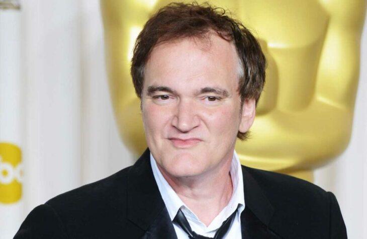 Quentin Tarantino durante una sesión de fotos en los óscar