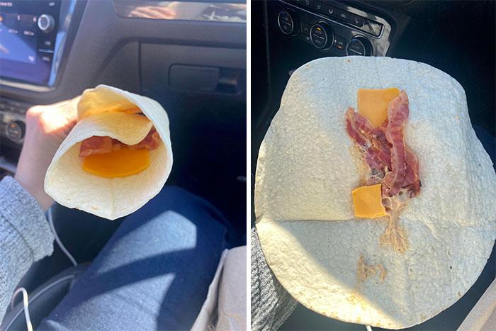 sincronizada sin queso ;personas que fueron estafadas al comprar comida rápida