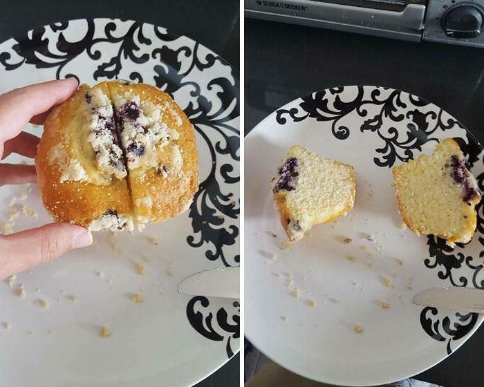 muffin de arándanos ;personas que fueron estafadas al comprar comida rápida