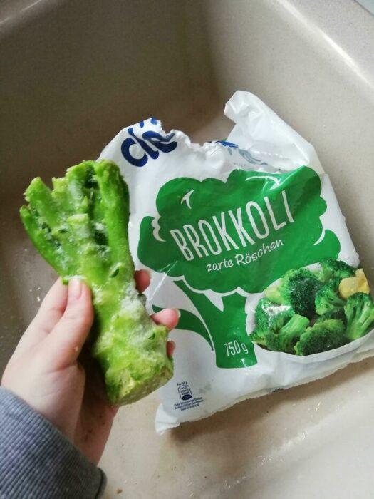 Brócoli ;personas que fueron estafadas al comprar comida rápida