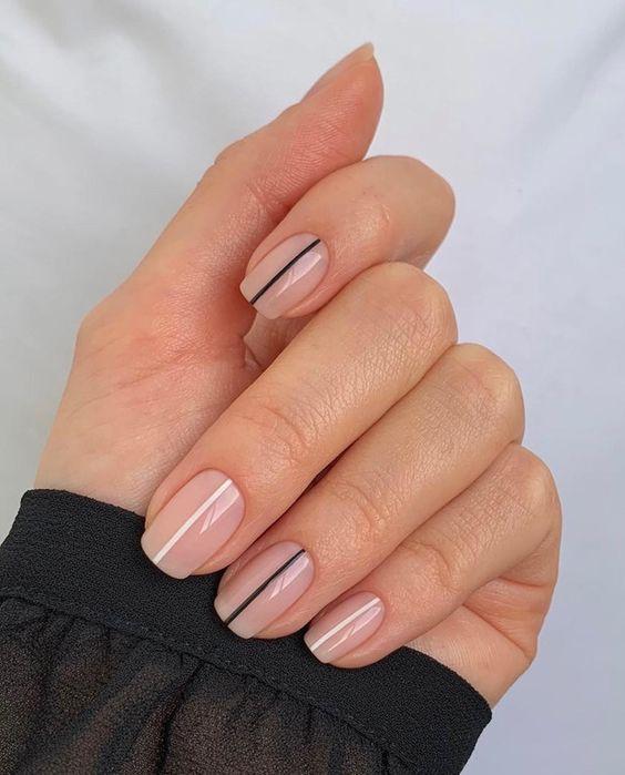 manicuras con líneas ;15 Ideas para enchular tu manos con un estilo minimalista