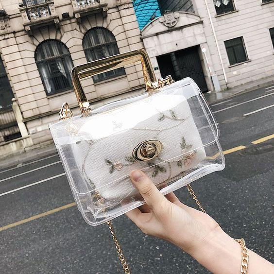 Mini bolso de mano ;Monederos transparentes que vas a querer