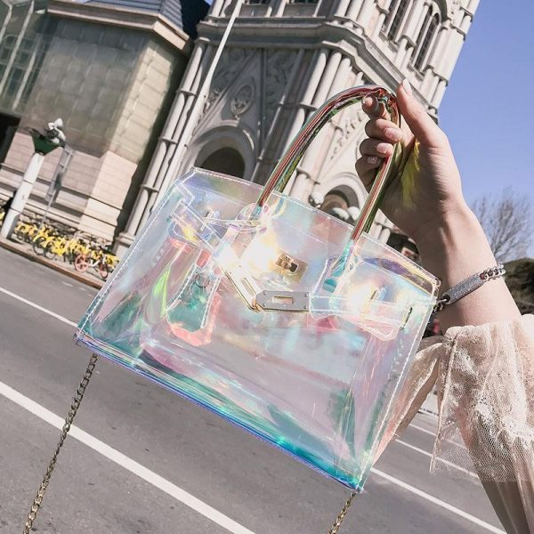 Bolso tornasol ;Monederos transparentes que vas a querer