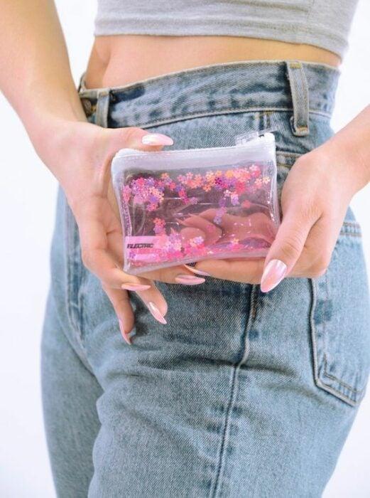 Monedero con flores ;Monederos transparentes que vas a querer