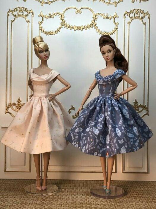 Muñeca con vestidos ampones ;Muñecas Barbie con estilo Pin Up