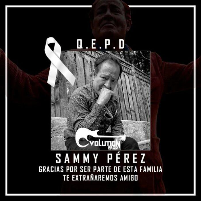 Comunicado fallecimiento de Sammy Perez
