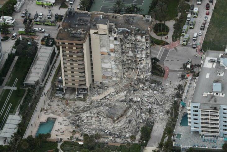 Edificio de Miami derrumbado