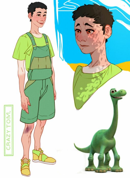 Personaje de caricatura reimaginado como humano