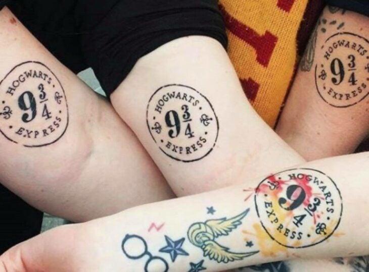 Anden 9 3/4;18 Tatuajes inspirados en 'Harry Potter' que te llevarán de vuelta a Hogwarts