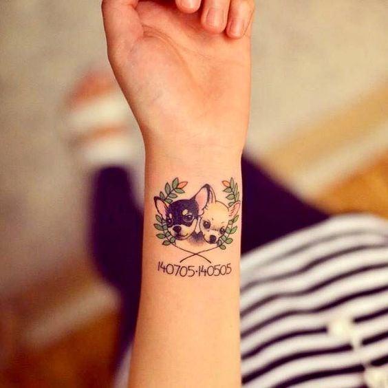 Perritos chihuahuas ;15 Hermosos tatuajes para mostrar que eres una 'animal lover'