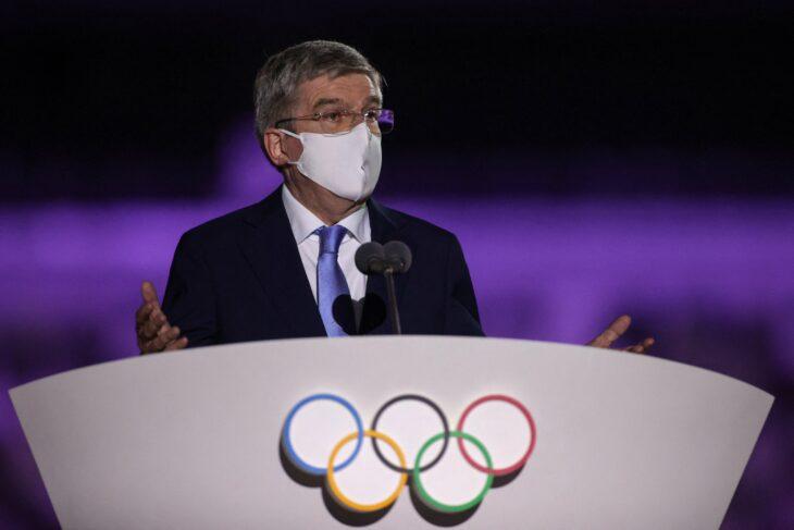 Mensaje bienvendia en tokio; Tokio 2020 Así se vive la inauguración de los Juegos Olímpicos