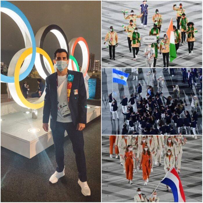 desfile deportistas; Tokio 2020 Así se vive la inauguración de los Juegos Olímpicos
